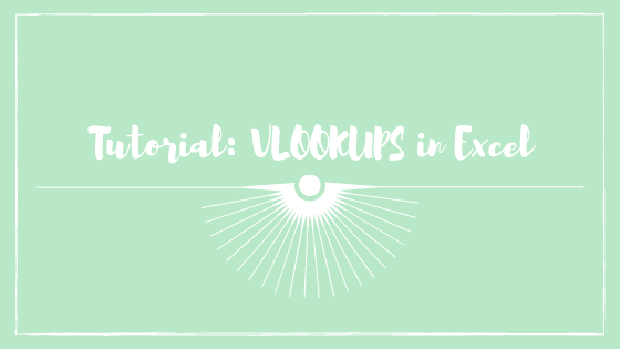 Excel Vlookups