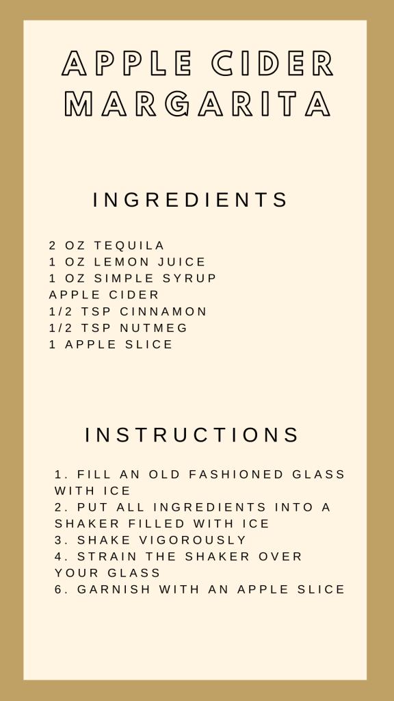 Apple Cider Margarita Instructions